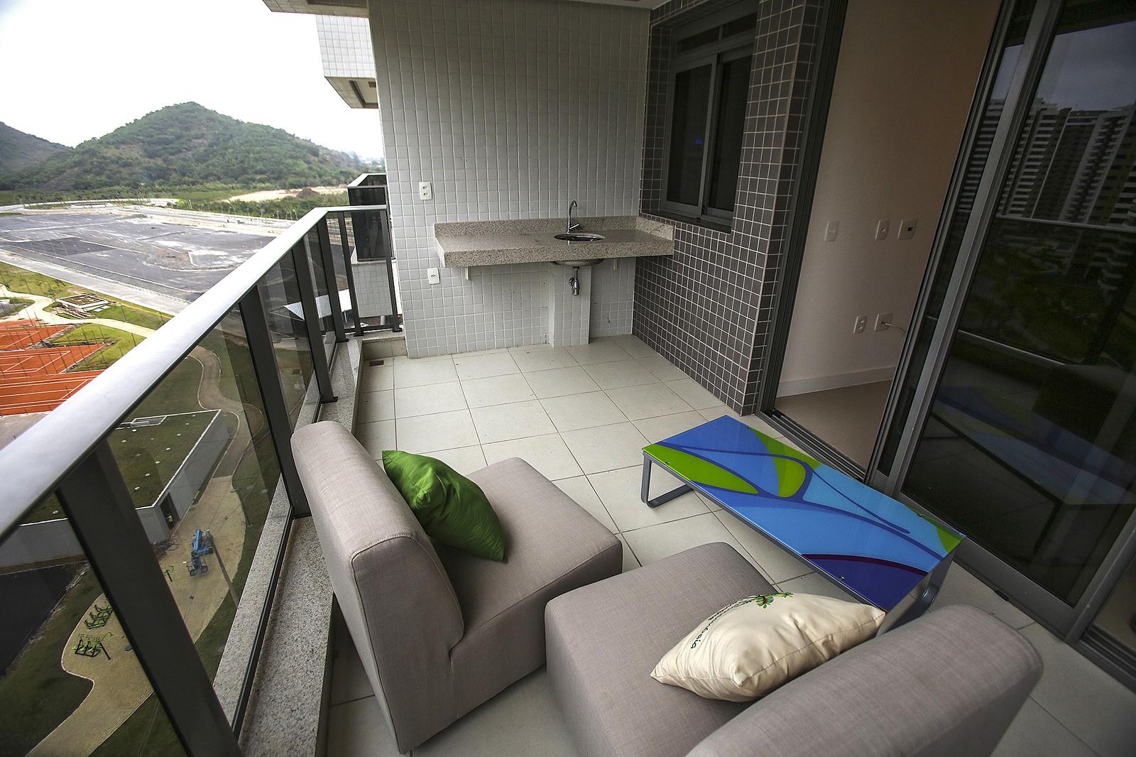 Балкон в апартаментах спортсменов