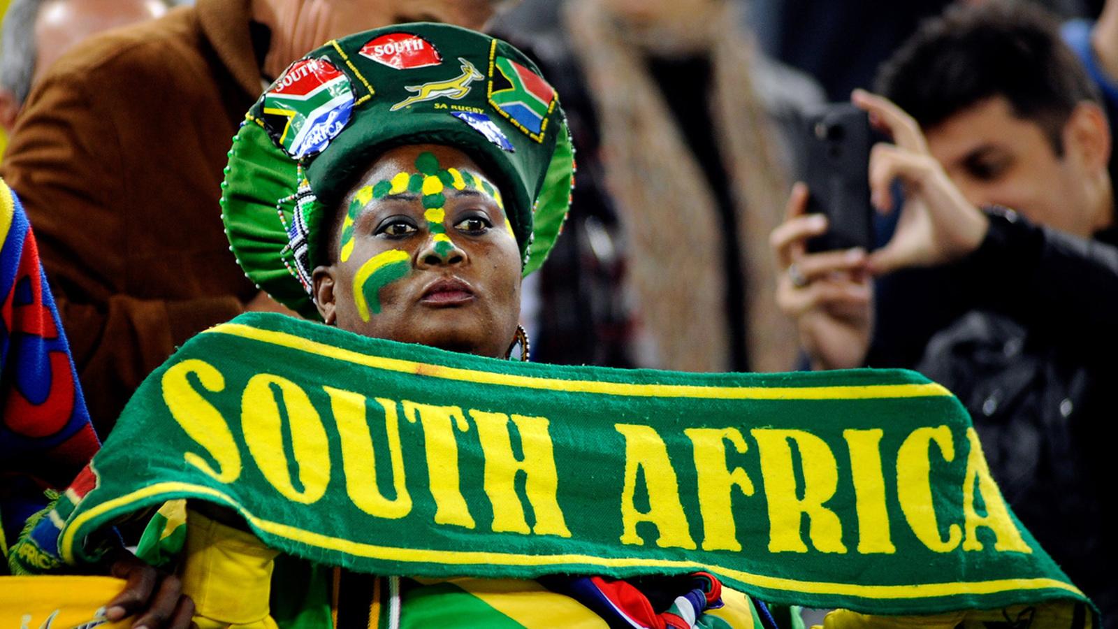 Поклонница спорта из ЮАР выглядит экзотически даже для Бразилии