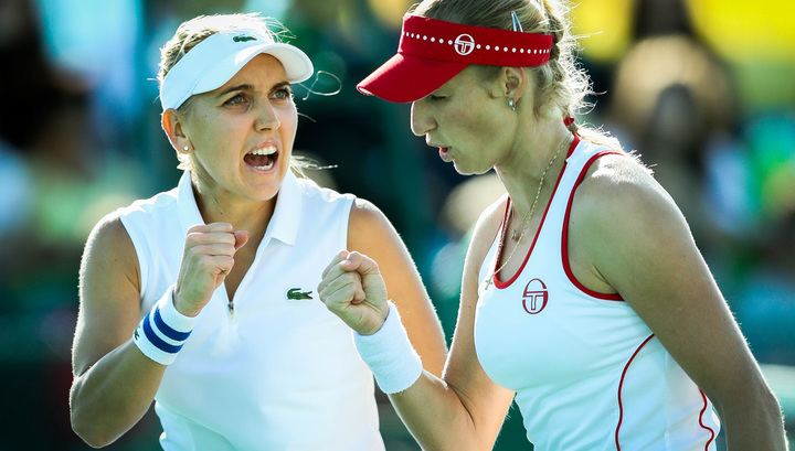 Русские теннисистки Веснина иМакарова вышли вфинал Олимпиады впарном разряде