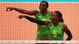 Волейболистки Камеруна в матче против России все время сетовали на то, что мяч их не очень слушается