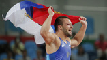 Российский борец Давит Чакветадзе выиграл десятую золотую медаль для нашей команды
