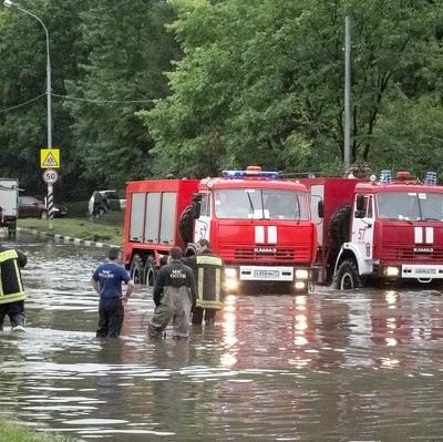 Один из районов в Балашихе погрузился на метр в воду
