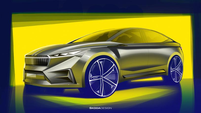 Skoda показала электрическое кросс-купе Vision iV