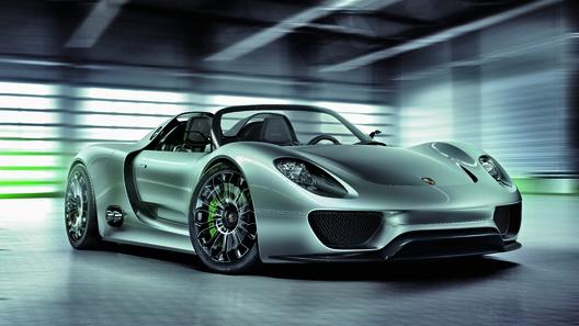 Немцы показали гибридный спорткар Porsche 918 Spyder