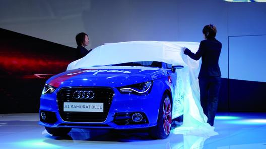 Audi перекрасил A1 в цвета сборной Японии по футболу