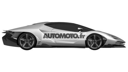 Новейший гиперкар Lamborghini показался на патентных эскизах