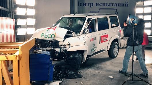 Журналисты разбили на краш-тесте обновленный УАЗ