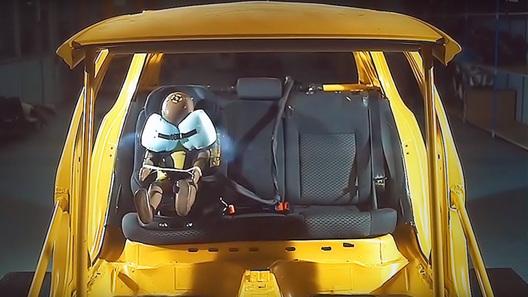 Детское автокресло впервые оснастили подушками безопасности