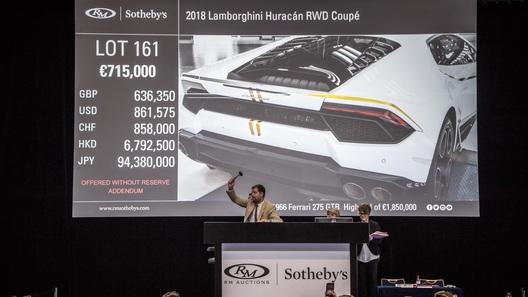Lamborghini Папы Римского продали в несколько раз дороже, чем ожидалось
