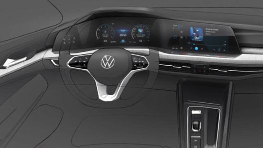 Меньше кнопок, больше экранов: Volkswagen показал салон нового Golf VIII