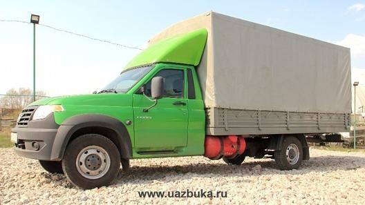 Появились первые фото длиннобазного грузовика УАЗ Профи