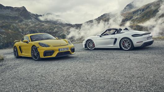 Porsche выпустила очень быстрый Cayman и очень красивый Spyder