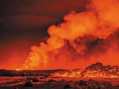 В недрах исландского вулкана произошло три мощных толчка