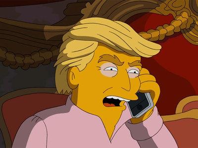 """В новой серии """"Симпсонов"""" Дональд Трамп пытается помириться с экс-главой ФБР"""