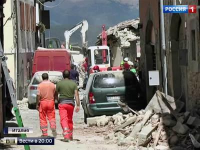 Число жертв землетрясения в Италии может возрасти до 1000 человек