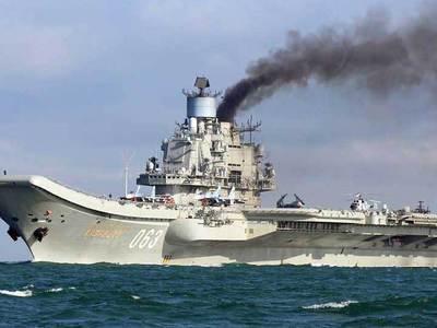 """Минобороны России: заход """"Адмирала Кузнецова"""" в испанский порт - это спекуляции"""