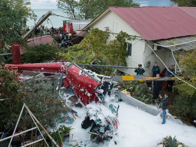 Крушение вертолета в Сочи: число жертв увеличилось до двух