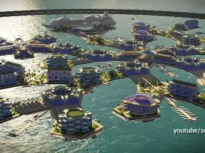 Американские инвесторы готовы построить плавучий город будущего в Тихом океане