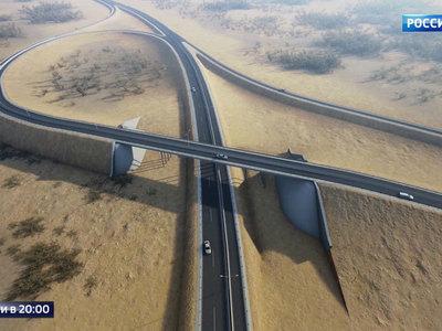 В Крыму началось строительство дороги к мосту через Керченский пролив