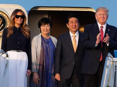 Первая леди Японии отказалась говорить с Трампом по-английски