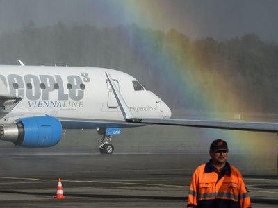 По самому короткому международному авиамаршруту летали всего пять месяцев