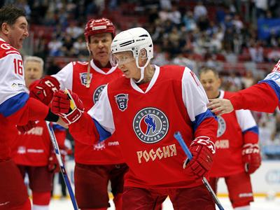 """17:6: """"Легенды хоккея"""" во главе с президентом разгромили сборную НХЛ"""