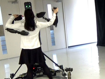 Вальсирующий робот научит людей танцевать