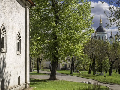 Вандалы изрубили и сожгли крест у Андроникова монастыря в Москве