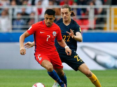 Сборные Чили и Австралии завершили матч вничью