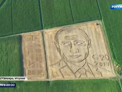 Президент России вдохновил итальянского фермера на необычный портрет