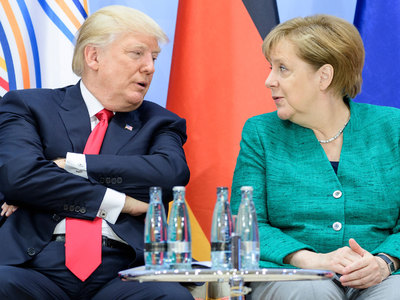 Меркель рассчитывает на прочные контакты между Путиным и Трампом