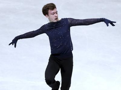 Фигурист Дмитрий Алиев стал третьим в короткой программе Гран-при России