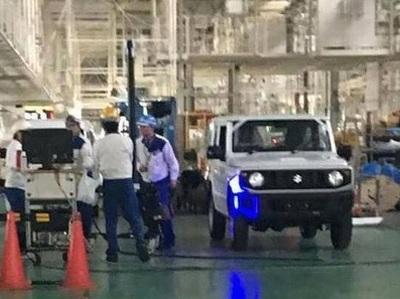 Появились шпионские снимки нового поколения Suzuki Jimny