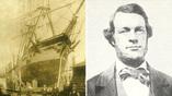 Барки Concordia (1) и Gay Head (2), попавшие в ловушку паковых льдов. Капитан китобойного судна Monticello Томас Уильямс