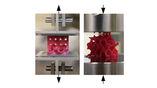 Модели материала испытывали на прочность при растяжении и сжатии.