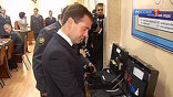 Перед совещанием президенту показали достижения рязанской милиции. Дмитрий Медведев посетил филиал Московского университета МВД