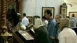 В Троицком соборе выставлены личные вещи преподобного. Многие верующие видели их только на иконах