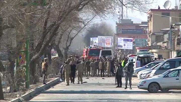 Иностранный вертолет потерпел аварию в Кабуле