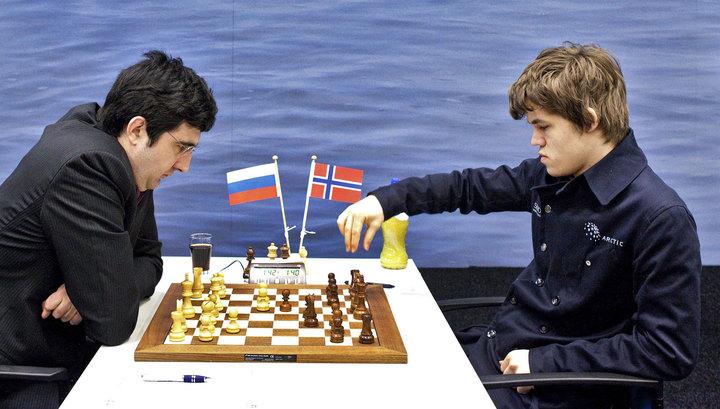 Шахматы. Крамник и Карлсен сыграли вничью в Вейк-ан-Зее