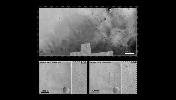 Нафото сМарса удалось рассмотреть разбившийся аппарат Schiaparelli