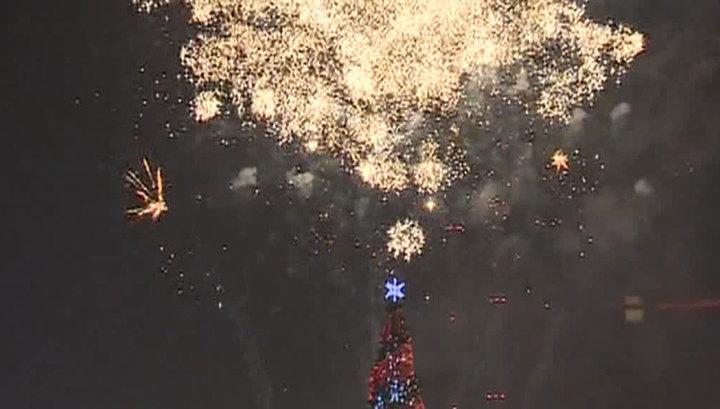 Новый год пришел в Россию