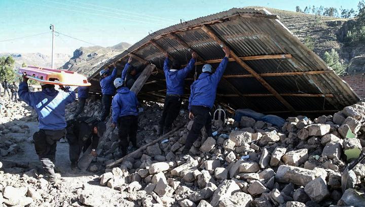 Мощное землетрясение в Перу не обошлось без жертв