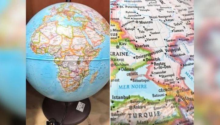 """Глобусы с """"правильным"""" Крымом начали продавать во Франции"""