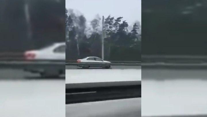 """Лихач разогнался до 120 км/ч на """"встречке"""" в Подмосковье"""