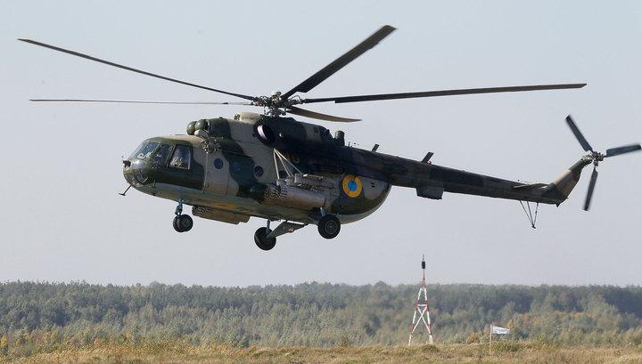 В Кременчуге упал вертолет