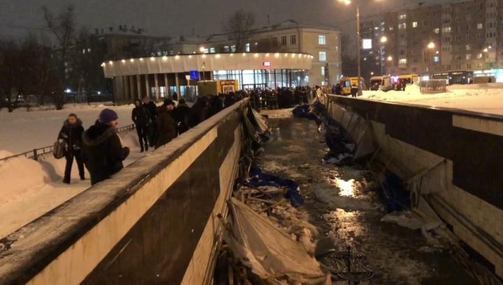 """ЧП возле """"Улицы 1905 года"""": брезентовые перекрытия рухнули под тяжестью снега"""