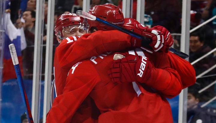 Российские хоккеисты обыгрывают норвежцев после первого периода