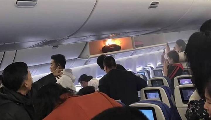 Стюардесса соком потушила пожар на борту китайского самолета