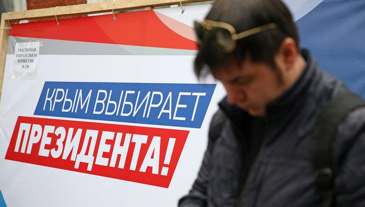 Крым с Севастополем отмечают годовщину воссоединения с Россией и впервые выбирают президента