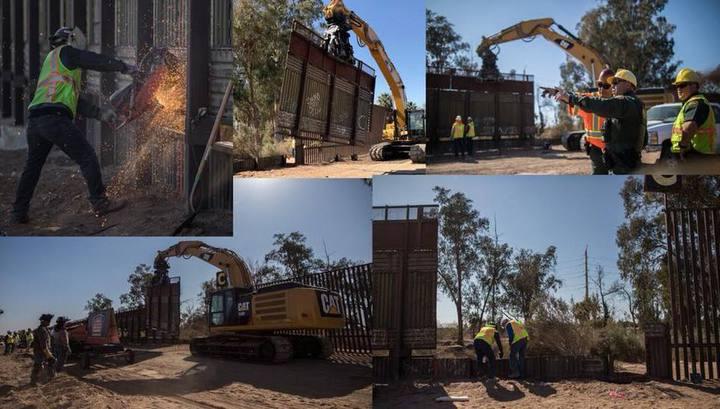 Трамп показал фотографии стены на границе с Мексикой